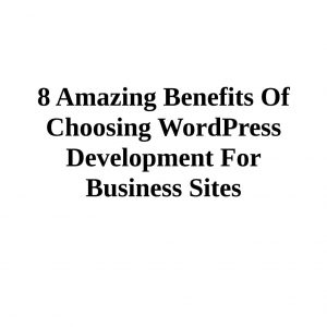 8 amazing benefits of choosing wordpress development for business sites