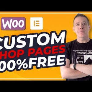 WooCommerce Custom Shop Page Design with Elementor FREE