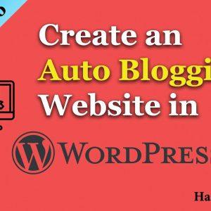 build auto blog with wordpress