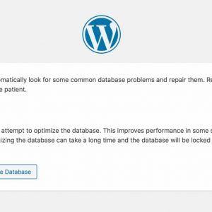 how to fix a corrupted wordpress database