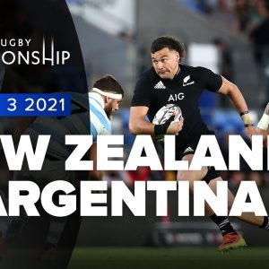The Rugby Championship | New Zealand v Argentina - Rd 3 Highlights