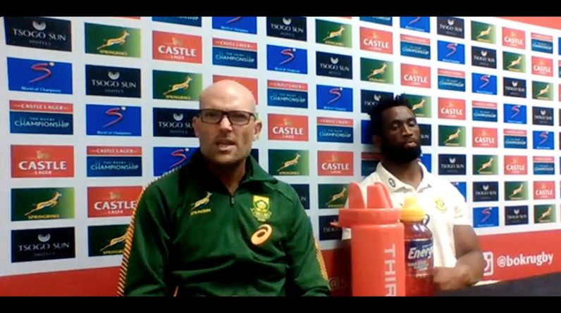 Bok coach and captain speak after shock loss